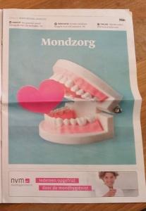 Mondzorg bijlage juni 2016 Telegraaf voorpagina